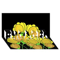 Yellow Tulips Engaged 3d Greeting Card (8x4)