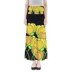 Yellow tulips Maxi Skirts by Valentinaart