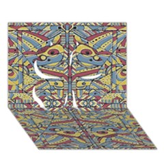 Multicolor Abstract Clover 3d Greeting Card (7x5) by dflcprintsclothing