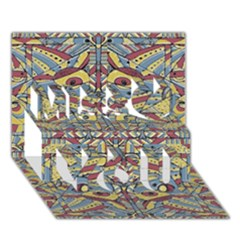 Multicolor Abstract Miss You 3d Greeting Card (7x5) by dflcprintsclothing
