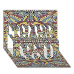 Multicolor Abstract Thank You 3d Greeting Card (7x5) by dflcprintsclothing