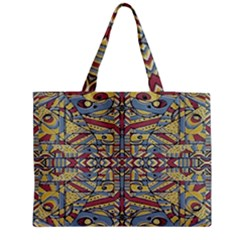 Multicolor Abstract Medium Tote Bag