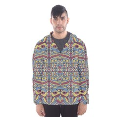 Multicolor Abstract Hooded Wind Breaker (Men) by dflcprintsclothing