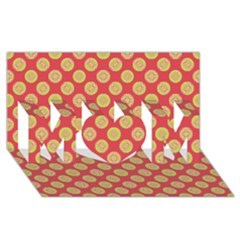 Mod Yellow Circles On Orange Mom 3d Greeting Card (8x4) by BrightVibesDesign