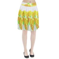 Yellow flowers Pleated Skirt by Valentinaart