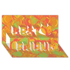 Orange Garden Best Friends 3d Greeting Card (8x4)