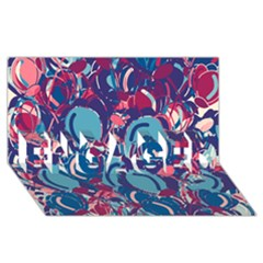 Blue Garden Engaged 3d Greeting Card (8x4) by Valentinaart