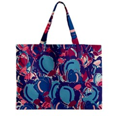 Blue Garden Medium Tote Bag by Valentinaart