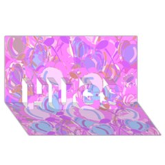 Pink Garden Hugs 3d Greeting Card (8x4) by Valentinaart