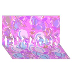Pink Garden Engaged 3d Greeting Card (8x4) by Valentinaart