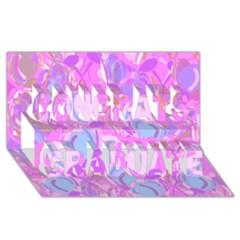 Pink Garden Congrats Graduate 3d Greeting Card (8x4) by Valentinaart