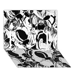 Black And White Garden I Love You 3d Greeting Card (7x5) by Valentinaart