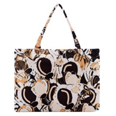Orange Abstract Garden Medium Zipper Tote Bag by Valentinaart