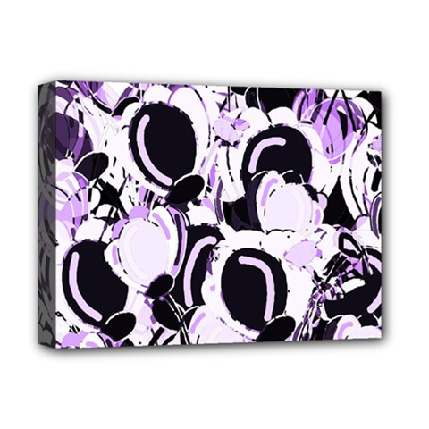 Purple Abstract Garden Deluxe Canvas 16  X 12   by Valentinaart