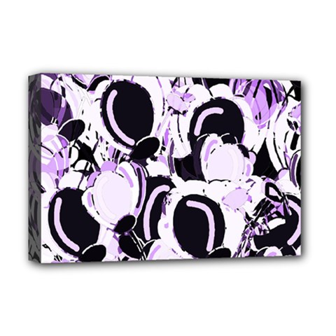 Purple Abstract Garden Deluxe Canvas 18  X 12   by Valentinaart