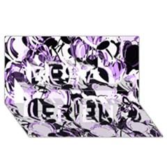 Purple Abstract Garden Best Friends 3d Greeting Card (8x4)