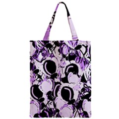 Purple Abstract Garden Zipper Classic Tote Bag by Valentinaart