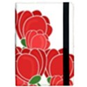 Red floral design iPad Air Flip View2