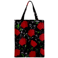 Red Roses Zipper Classic Tote Bag by Valentinaart