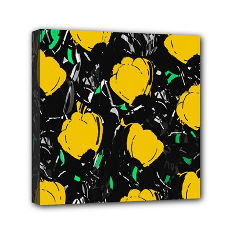 Yellow Roses 2 Mini Canvas 6  X 6  by Valentinaart