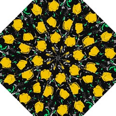 Yellow Roses 2 Golf Umbrellas by Valentinaart