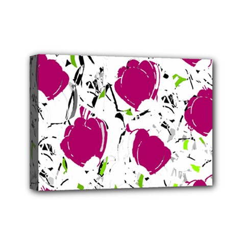 Magenta Roses Mini Canvas 7  X 5  by Valentinaart
