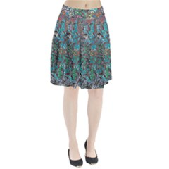Colorful Abstract Painting Design  Pleated Skirt by GabriellaDavid