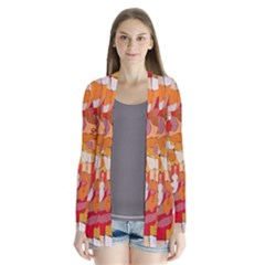 Colorful Abstract Painting Design  Drape Collar Cardigan by GabriellaDavid
