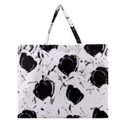 Black Roses Zipper Large Tote Bag by Valentinaart
