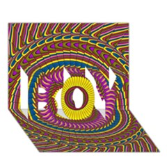 Ornament Mandala Boy 3d Greeting Card (7x5) by designworld65