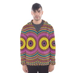 Ornament Mandala Hooded Wind Breaker (men) by designworld65