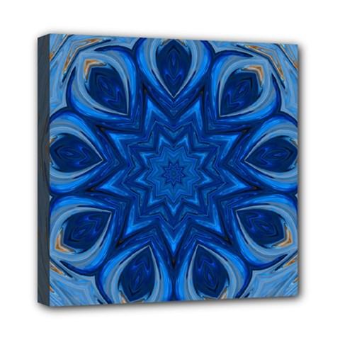 Blue Blossom Mandala Mini Canvas 8  X 8  by designworld65