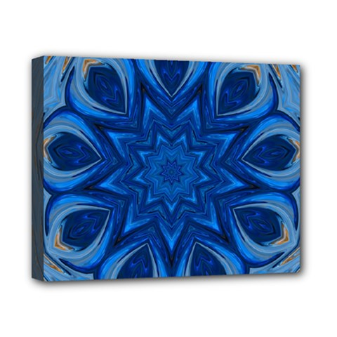Blue Blossom Mandala Canvas 10  X 8  by designworld65