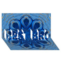 Blue Blossom Mandala Best Bro 3d Greeting Card (8x4) by designworld65