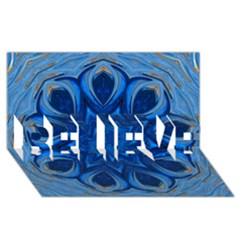 Blue Blossom Mandala Believe 3d Greeting Card (8x4) by designworld65