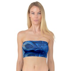 Blue Blossom Mandala Bandeau Top by designworld65