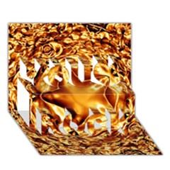 Elegant Gold Copper Shiny Elegant Christmas Star You Rock 3d Greeting Card (7x5) by yoursparklingshop