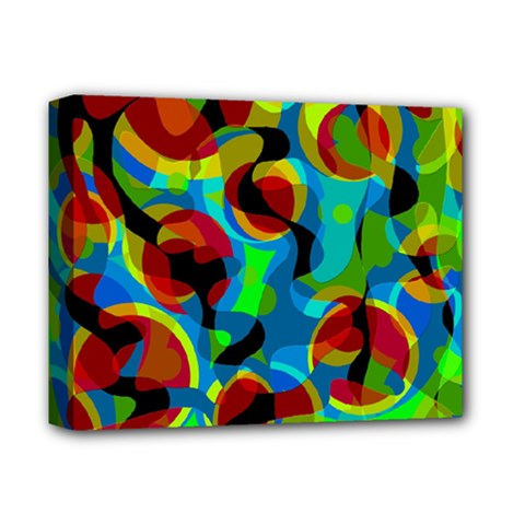 Colorful Smoothie  Deluxe Canvas 14  X 11  by Valentinaart