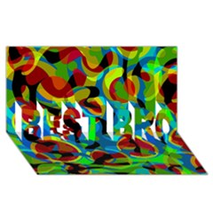 Colorful Smoothie  Best Bro 3d Greeting Card (8x4) by Valentinaart
