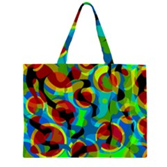 Colorful Smoothie  Zipper Large Tote Bag by Valentinaart