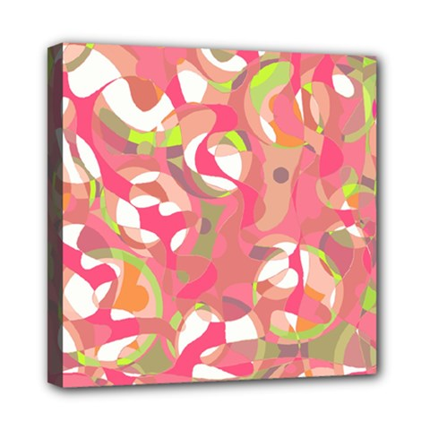Pink Smoothie  Mini Canvas 8  X 8  by Valentinaart