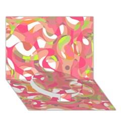 Pink Smoothie  Circle Bottom 3d Greeting Card (7x5)