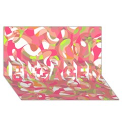 Pink Smoothie  Engaged 3d Greeting Card (8x4) by Valentinaart