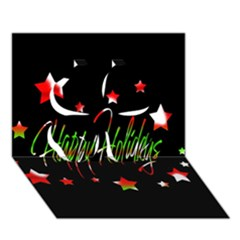 Happy Holidays 2  Clover 3d Greeting Card (7x5)