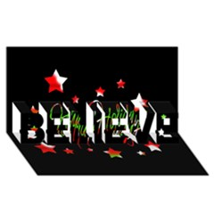 Happy Holidays 2  Believe 3d Greeting Card (8x4) by Valentinaart