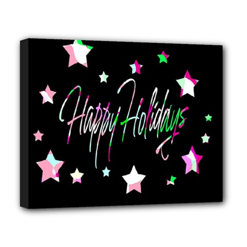 Happy Holidays 5 Deluxe Canvas 20  X 16   by Valentinaart