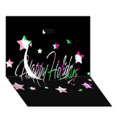 Happy Holidays 5 Circle 3d Greeting Card (7x5) by Valentinaart