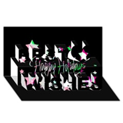 Happy Holidays 5 Best Wish 3d Greeting Card (8x4) by Valentinaart