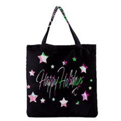Happy Holidays 5 Grocery Tote Bag by Valentinaart