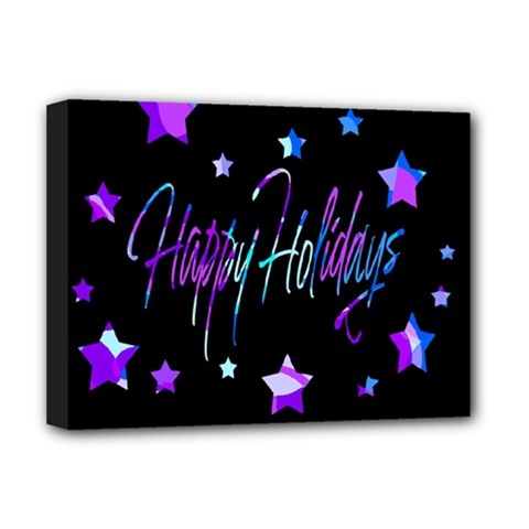 Happy Holidays 6 Deluxe Canvas 16  X 12   by Valentinaart